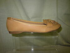 Ladies spot on casual loafer shoes,tassel detail,camel colour, F8721
