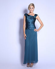 9 COLORS FORMAL GOWN OCCASION MOTHER OF THE BRIDE/GROOM DRESS EVINING M To 4XL