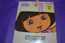 Girls New NIB Dora the Explorer PJs Pajamas Sleepwear 2pc 18m 3T 5T Cotton Nicke