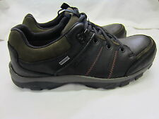 Clarks 'Quantocklo GTX' Mens Black Leather Casual Shoes G Width Fitting