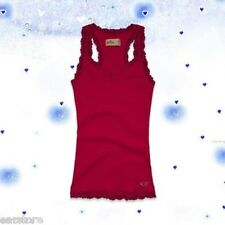 NWT Hollister by Abercrombie Women Jack Creek Cami Tank Tee Top Lace Trim