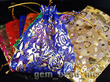 Bulk Mixed Color Christmas Wedding Party Bussiness Voile Organz Gift Small Bags