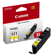 Genuine Canon CLI-551XL Yellow High Capacity Printer Ink Cartridge