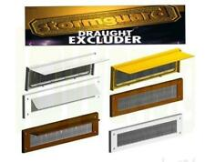Letterbox Cover Draught Excluder with Brush or Brush & Flap White Brown Draft