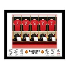 Personalised MANCHESTER UNITED FC Dressing Room Print in Folder or Frame