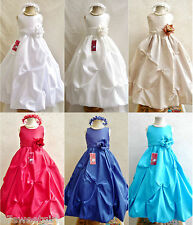 FLOWER GIRL DRESS PO1  NEW ALL COLOR SZ 2, 4, 6, 8, 10