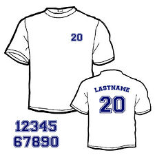 Custom Iron-On Heat Transfer NAME & NUMBER SET for Jersey or t-Shirt Style #5