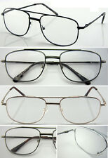 R43 Men Large Double Bridge Metal Frame Reading Glasses+50+75+1.+100+125+1.5+150
