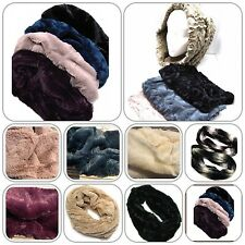 Snood Faux Fur or Knitted Neverending Scarf Cowl Soft For Neck and Head Warmth