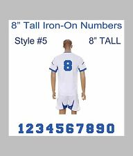 "8"" Tall Iron-On Number for Football Baseball Jersey Sports T-Shirt Style #9"