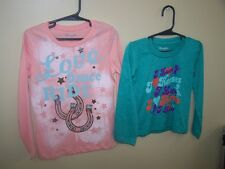 Wrangler girls horse long sleeve shirts