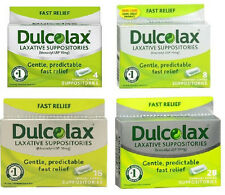 Dulcolax Laxative Suppositories--# of Supp- 4,8,16  -- BRAND NEW!!!