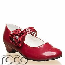 Girls Burgundy Shoes, Flower Girl Shoes, Communion Shoes, Bridesmaid Shoes