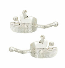 Silver Engraved Ball End Equitation Spurs (Mens or Womens)