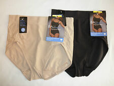 NWT Bali 360 Stretch Brief Panties 8066 - Nude or Black - Sizes M XL XX
