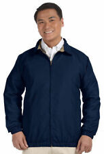 Harriton Men's Water Resistant Two Front Pockets Microfiber Club Jacket. M710