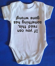 SOMETHING HAS GONE WRONG Baby Grow / Body Suit, Baby Clothes funny NEW gift