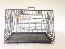 Double Car Cage 3 door sloped front & back with divider. With or without cover.