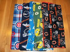 RECEIVING BLANKETS SPORTS PATTERNS FLEECE WITH FLEECE LINING