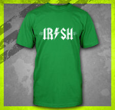 IRISH AC DC ST. PATRICK'S DAY IRELAND HOOLIGAN GREEN BEER BOSTON T-SHIRT TEE
