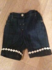 NEW Baby Girls Cropped Jeans Age 9-12, 12-18, 18-24 Months *FREE P&P*