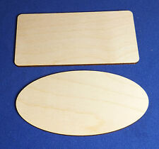 5 Birch Plywood Rectangle/Oval Door Plaques Signs Craft Shapes Pyrography Blanks