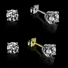 9ct White or Yellow Gold Solitaire Diamond Studs (0.10ct to 0.50ct) Stud Earring