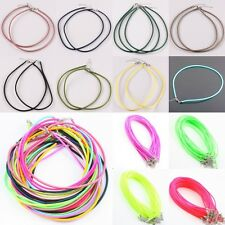 Wholesale Round Silk Cord Thread Rubber Adjustable Chain Choker Necklace Finding