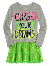 NWT Justice Girls Chase Your Dreams Sequin Tulle Tunic Dress Top U Pick Size NEW