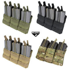 CONDOR MA44 - Triple Stacker Open-Top M4 Mag Pouch- OD TAN BLACK MULTICAM A-TACS