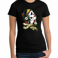Day Of The Dead Sugar Skull Mexican Latin Muertos Womans T Shirt Fashion Tee New