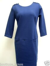 NWT Banana Republic Blue Low Waist Two Slip Pockets Stretch Sheath Dress