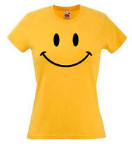 SMILEY FACE  on Ladies Skinny fit t-shirts