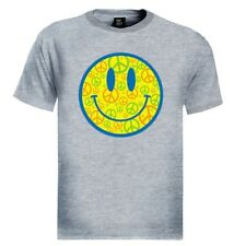 Smiley Face T-Shirt Peace Sign retro acid happy 60's vintage