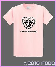 I Love My Dog! or I Love My Dogs Pink or Black T-Shirt