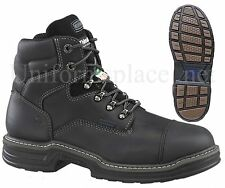 "Wolverine Boots Men Raider 6"" Multishox Thinsulate Safety Steel Toe W33333 BLACK"