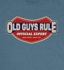 OLD GUYS RULE OFFICIAL EXPERT SLATE BLUE TEE SHIRT