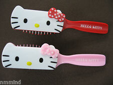 """NEW Hello Kitty 7"""" Anti-Static Hair Brush ~ 2 Colors: Pink/White, Red/White"""