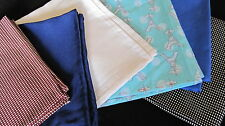 Handmade Hanker Chiefs Pocket Squares Silk/Cotton