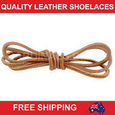 New LIGHT BROWN LEATHER SHOE LACES