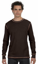 Bella + Canvas Men's Contrast Stitching Long Sleeve Thermal Knit T-Shirt. 3500