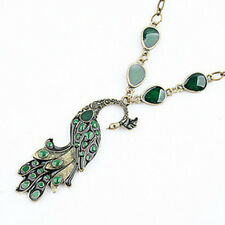 Retro Style Enamel Peacock Chain Necklace Charm Animal Pendant