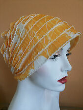 Colorful soft cotton chemo caps or sleeping hats for chemo hair loss