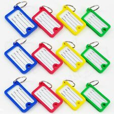 Plastic Key Tags 2-Sides ID Labels Name Card W/ Split RING  NEW 6,12, 25, 50,100
