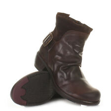 Womens Fly London Mel Dark Brown Leather Western Ankle Boots Ladies Size 3-8