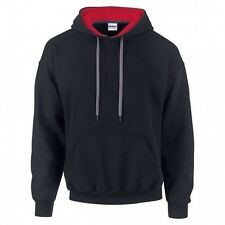 (Free PnP) Gildan Mens Heavy Blend Contrast Hooded Sweatshirt / Hoodie