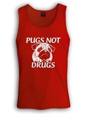 pugs not drugs Singlet funny dog movie animal show love new all sizes