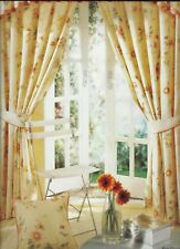 "NEW fab ready made CHINTZ CURTAINS 46 x 54"" / 66 x 72"" quality item brand new"