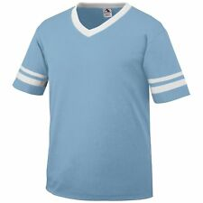 Augusta Sportswear Youth Jersey Knit Sleeve Stripe V Neck Collar T-Shirt. 361