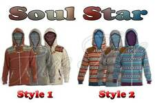 Soul Star Boys Aztec Designer Zip Hoodie Sweatshirt Hooded Top Sports Jumper